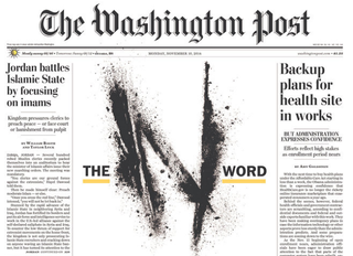 "The Washington Post's front-page graphic, ""The N Word,"" on Nov. 10, 2014The Washington Post"