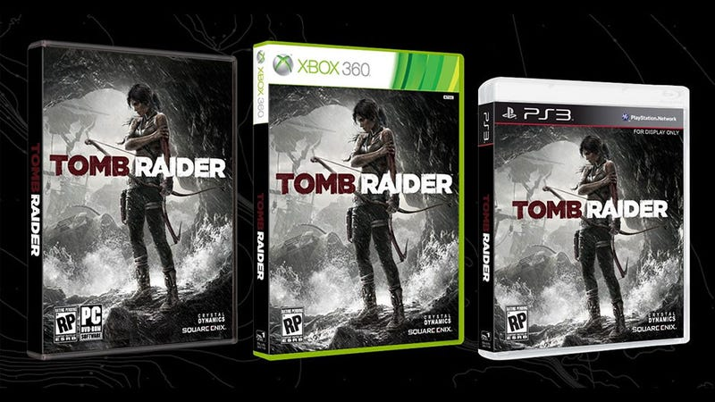 Illustration for article titled Tomb Raider's Box Art Resists The Obvious Temptation