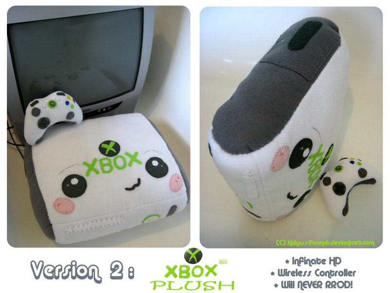Illustration for article titled Xbox 360 Plushie Version 2 For Sale