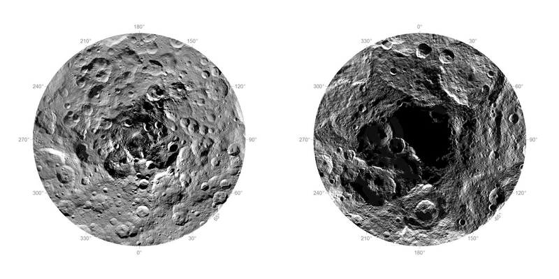 Illustration for article titled Here's Our First Ever Look At The North And South Poles Of Ceres