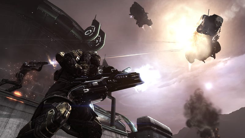 Illustration for article titled PlayStation Plus Members Can Now Shoot Things Dramatically In The Dust 514 Closed Beta