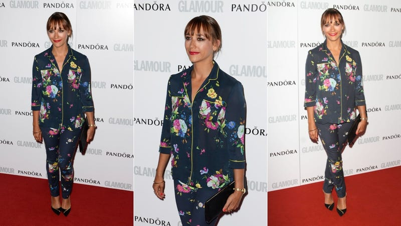 Illustration for article titled Rashida Jones' Red Carpet Outfit Is the Cat's Pajamas