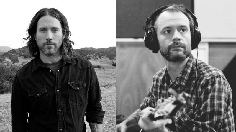 Chuck Ragan (left), Rocky Votolato (right)