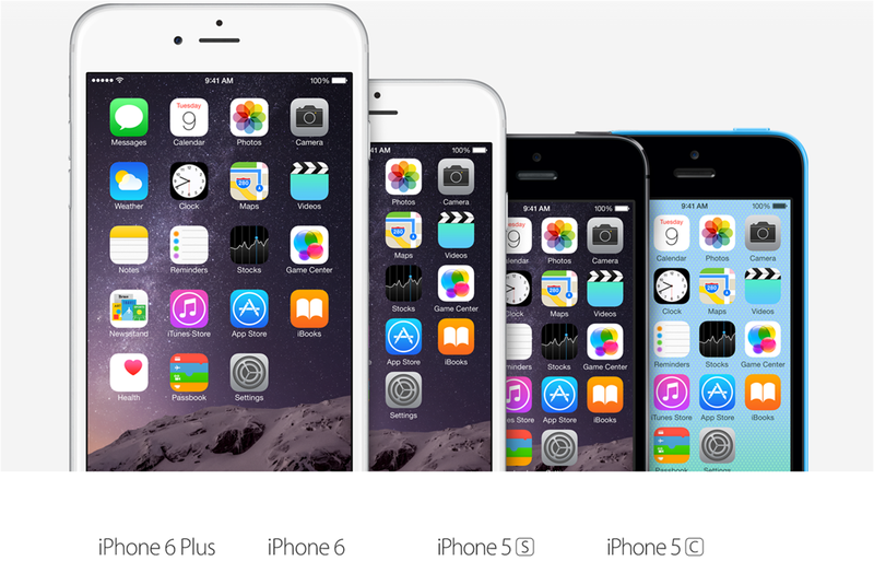 Illustration for article titled Comparativa del iPhone 5c y 5s vs iPhone 6 y 6 Plus. ¿Qué cambia?
