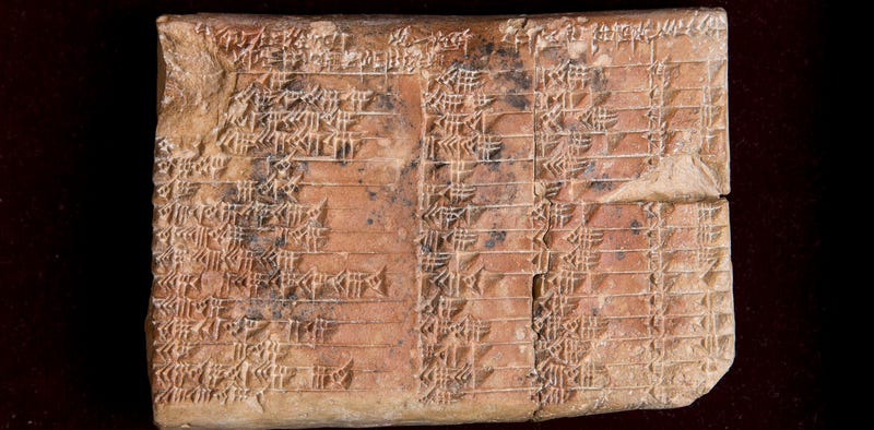 Plimpton 322—now the world's oldest known trigonometry table. (Image: UNSW/Andrew Kelly)