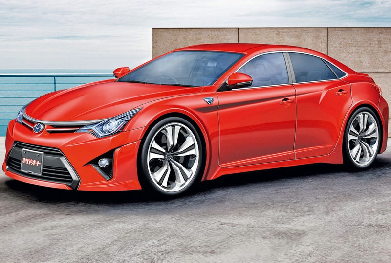 Illustration for article titled Could the Toyota GT86 Sedan Concept be a BMW 3-Series competitor?