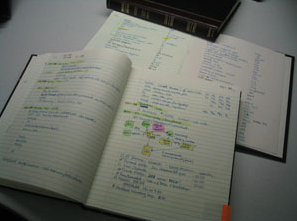 Go old school with a notebook