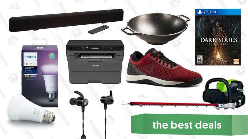 Illustration for article titled Monday's Best Deals: Dark Souls, Wireless Earbuds, Lawn Care Sale, and More