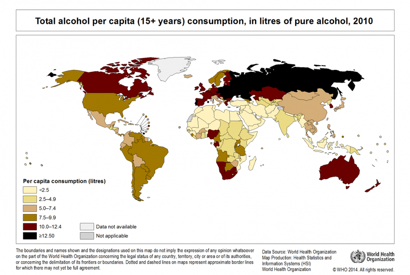 Illustration for article titled How Drunk is Your Country Right Now?