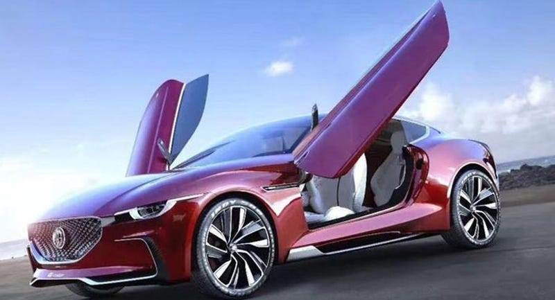 Illustration for article titled Why is There a Blatant Mazda Front End on This MG E-Motion Concept?