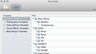 Illustration for article titled Post Haste Instantly Creates Project-Based Template Folders