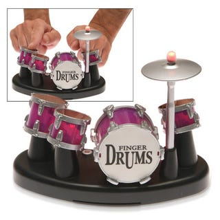Illustration for article titled Electronic Drum Beat Maker Lets Your Fingers Do the Drumming