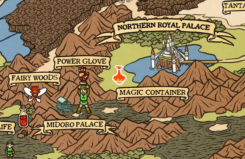 Illustration for article titled A Map Fit For The Legend Of Zelda