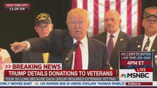 All three cable news networks broadcast the entirety of Donald Trump's 40-minute news conference live, and devoted substantial time afterward discussing his comments.Screenshot