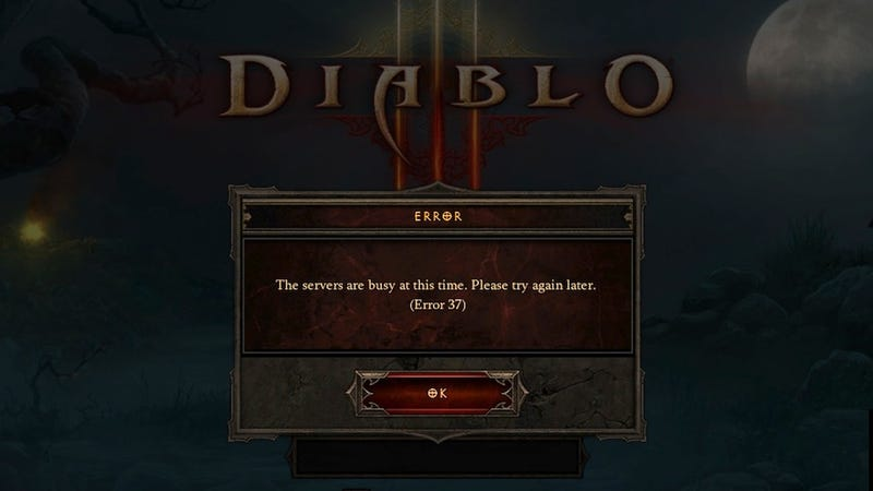 Illustration for article titled Well, I'd Say This Stupid Error Message About Sums It Up, Diablo III-Wise