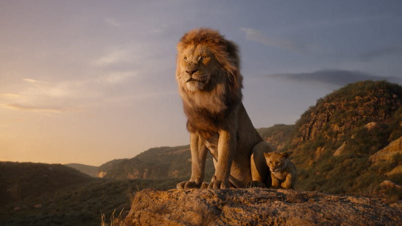 Illustration for article titled The Lion King cast faces off with their animal counterparts in new promo images