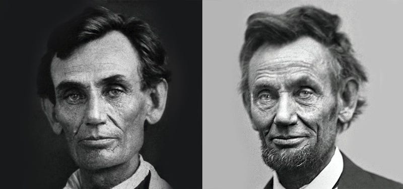 before and after the war the dramatic aging of abraham lincoln
