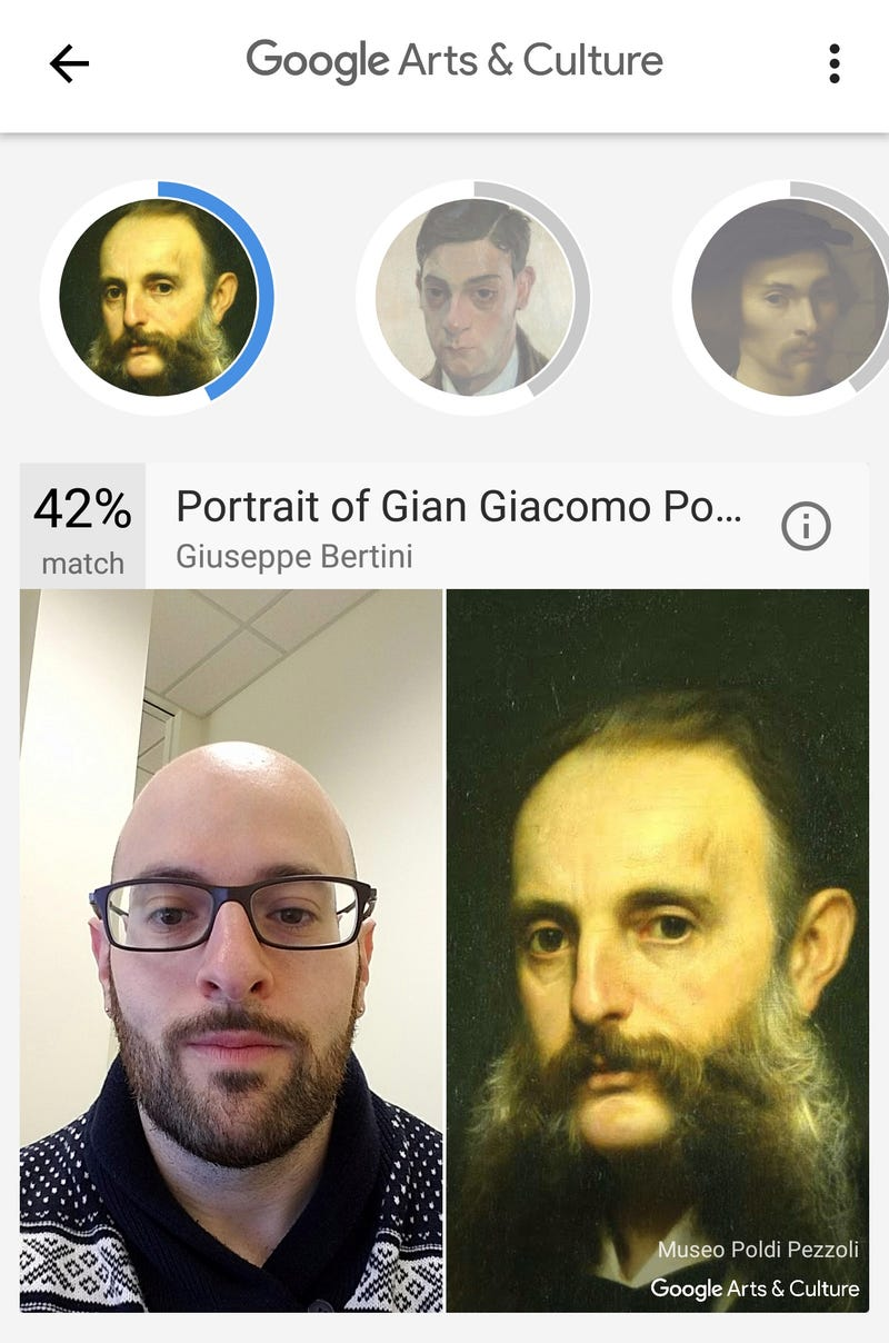 "Illustration for article titled Google's ""what painting are you"" thingie likes my beard"