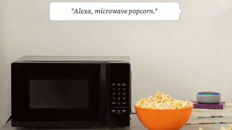AmazonBasics Alexa-Enabled 700-Watt Microwave, Refurb   Woot