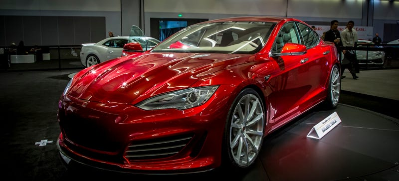 Illustration for article titled Saleen's Hotted-Up Tesla Is Called The Saleen ST Now
