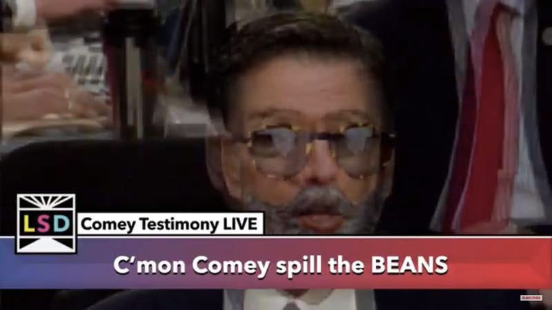 Illustration for article titled Here is the weirdest possible live stream of the Comey testimony