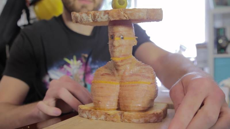 Illustration for article titled Behold: A ham and cheese sandwich that looks like Vin Diesel