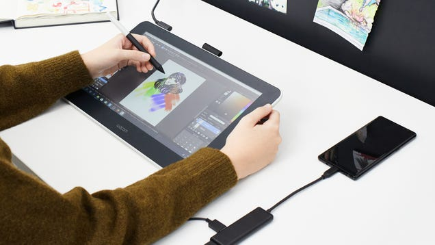 Wacom s New 13-Inch Drawing Tablet Gives Android Fans the Apple Pencil Experience