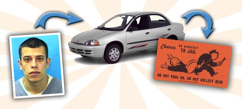 Illustration for article titled Guy Loans His Car To His Roomie, Gets Life In Prison