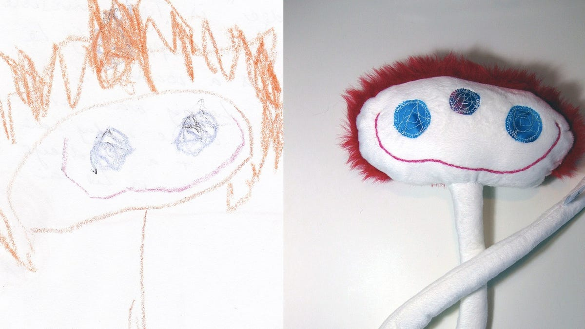 Line Drawing Of Child S Face : Children s drawings come to life as delightfully weird toys
