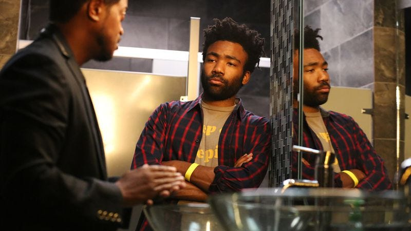 Lucius Baston and Donald Glover (Photo: Quantrell D. Colbert/FX)