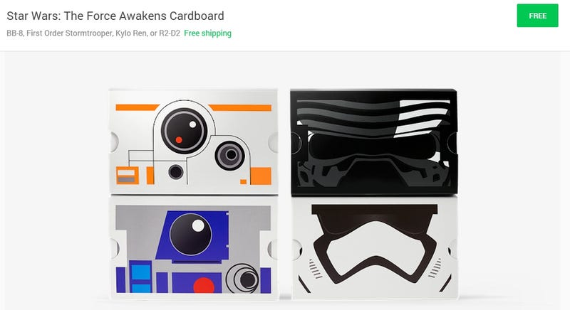 Illustration for article titled Hear ye, hear ye! Free Star Wars Google Cardboard for all! (UPDATE!)