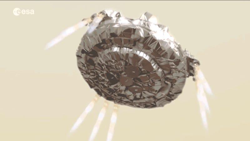 European lander released to begin final descent to Mars