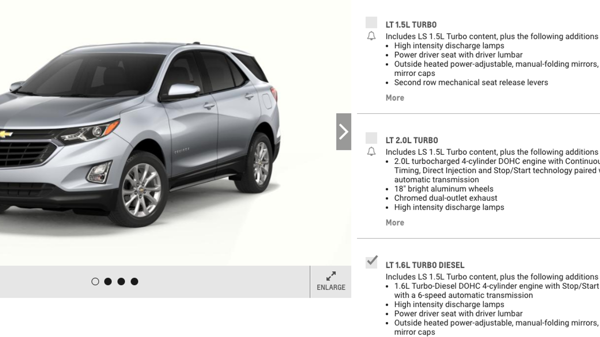 The 39 Mpg 2018 Chevrolet Equinox Diesel Seems Like A Hard Sell 1995 Chevy 6 5 Turbo Sel Updated