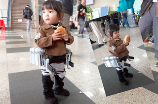 Illustration for article titled The Littlest Attack on Titan Cosplayer Is Simply Adorable