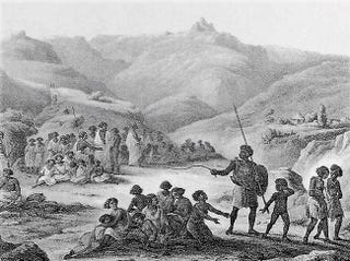 Slaves in 19th-century Ethiopia, artist unknown (Wikimedia Commons)