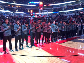 These Milwaukee Bucks players aren't protesting, except they totally are.Twitter