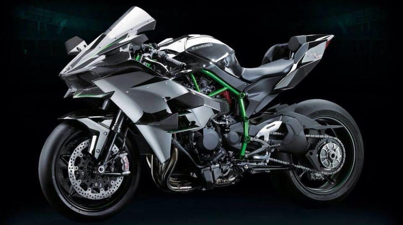 The Ninja H2R Is Something Completely Different From Kawasaki Its Supercharged Has A Trellis Frame Carbon Fairings And Freaking Wings