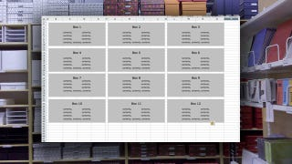 Illustration for article titled Use a Simple Spreadsheet to Track Items in Storage