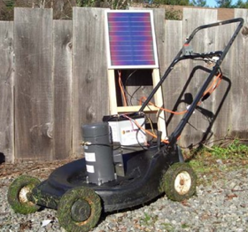 Illustration for article titled Convert Your Gas Mower to Solar Power