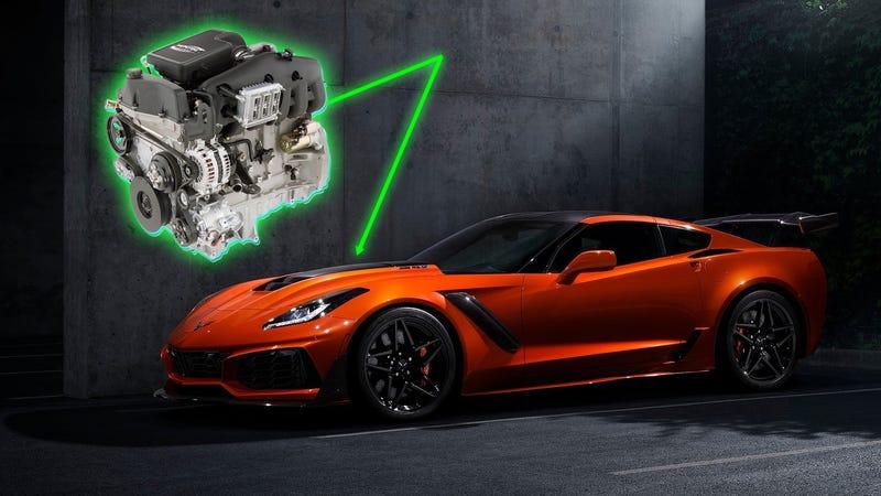 Image credits: GM (Vortec LL8 inline six and current Corvette ZR1)