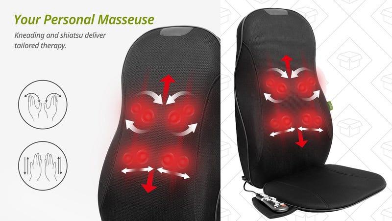 Asiento masajeador Mynt | $120 | Amazon | Usa el código MYNT2510Gráfico: Shep McAllister