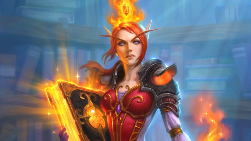 Illustration for article titled Archivist Elysiana Is A Fun Hearthstone Card When Your Opponent Isn't Using It