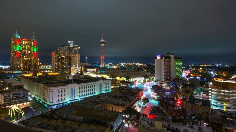 San Antonio, done up for Christmas