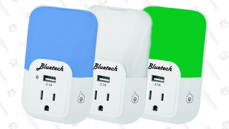 Bluetech Nightlight with Outlet and USB Port 3-Pack | $18 | Woot