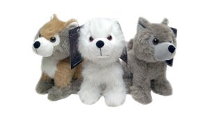 Illustration for article titled Heal your Game of Thrones anguish with these plush Direwolf puppies