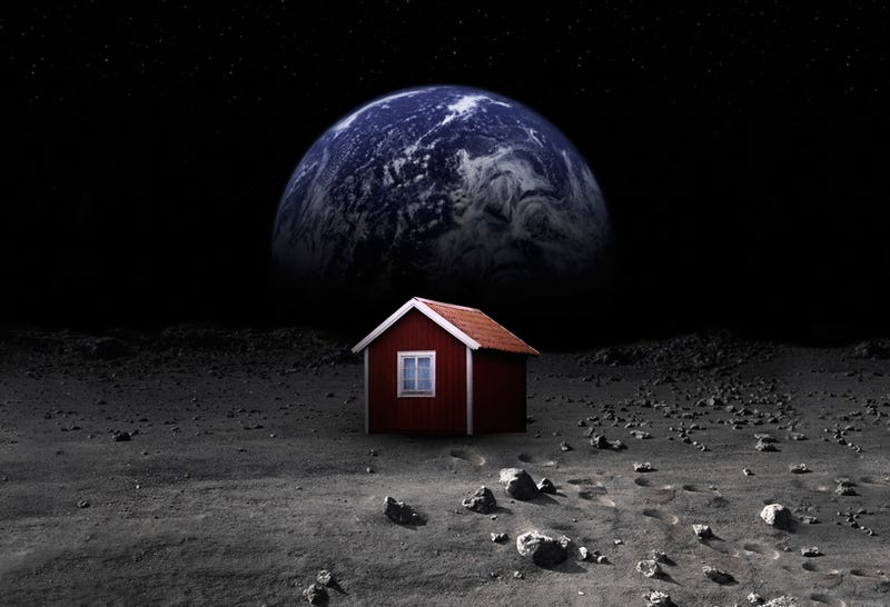 Illustration for article titled An Artist Is Raising Money To Build A Quaint Little House On The Moon