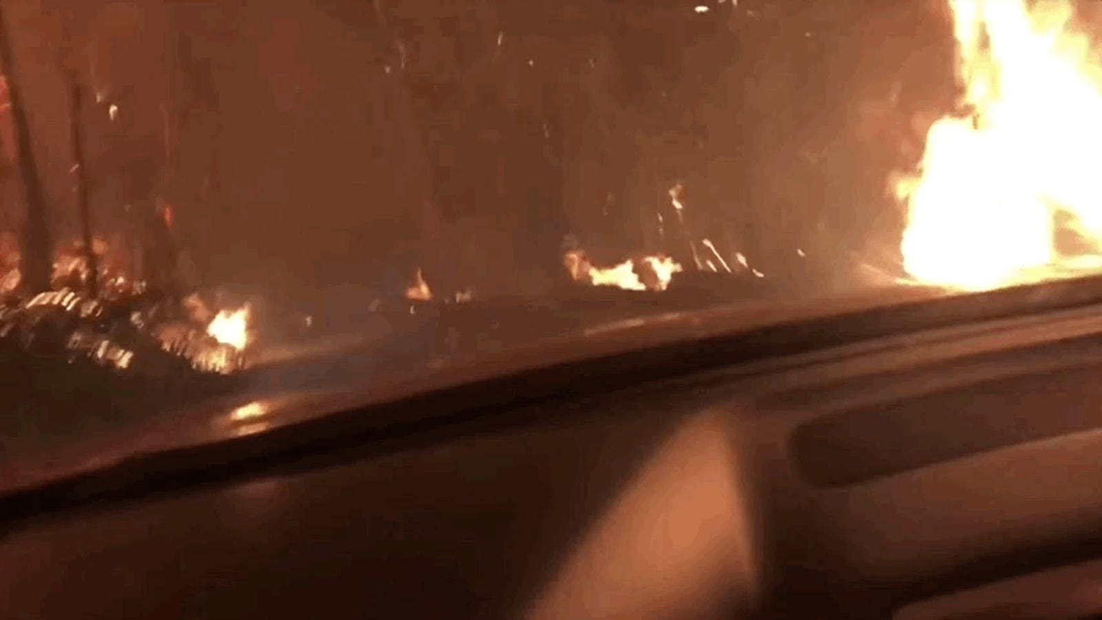 Driving Into A Raging Wildfire Seems Extremely Not Fun
