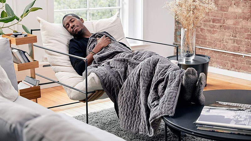 "Gravity Blanket (48"" x 72"" Size, 20 lb.) Blue or Gray | $160 | AmazonGravity Blanket (48"" x 72"" Size, 25 lb.) Blue only | $160 | Amazon"