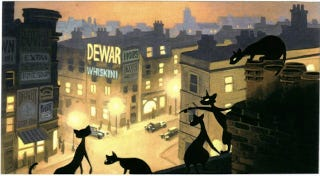Illustration for article titled Stunning Concept Art For Spielberg's Animated Cats Movie That Never Was
