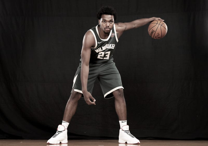 Sterling Brown of the Milwaukee Bucks poses for a portrait during the 2017 NBA Rookie Photo Shoot at MSG Training Center on Aug. 11, 2017, in Greenburgh, N.Y.
